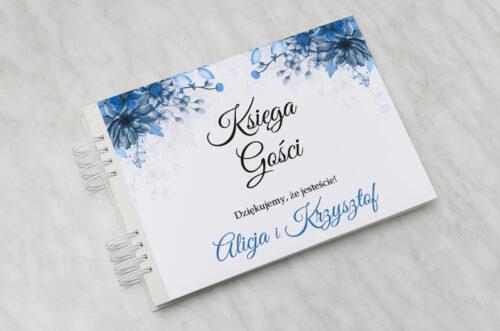 Księga gości ślubnych Zdjęcie&Kalendarz w folderze – Niebieski bukiet