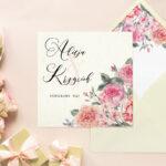 Kremowa z wklejką Angielskie róże – wzór 10