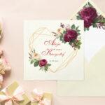 Kremowa z wklejką Angielskie róże - wzór 4