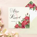 Kremowa z wklejką Angielskie róże – wzór 8