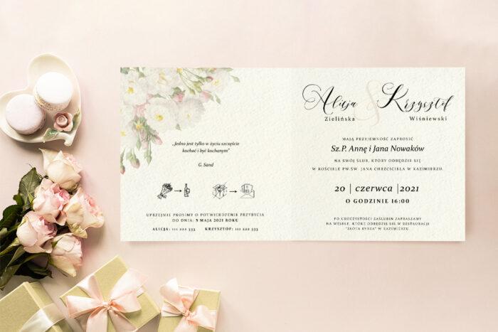 Zaproszenie ślubne - Angielskie Róże - wzór 9