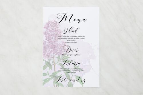 Menu weselne - Namalowane Kwiaty – wzór 19