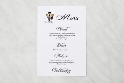 Menu weselne pasujące do zaproszeń Lolki i ksiądz 2