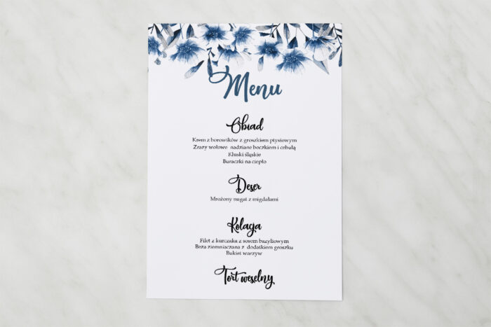 menu-weselne-pasujace-do-zaproszenia-zdjeciekalendarz-w-folderze-niebieskie-kwiaty-papier-matowy
