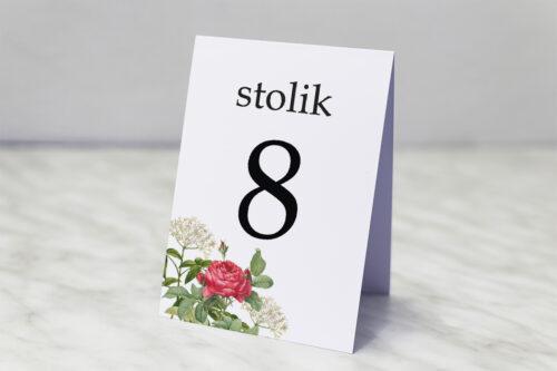 Numer stolika pasujący do zaproszenia Kwiaty Vintage – wzór 16