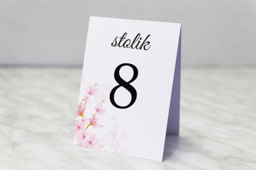 Numer stolika do zaproszenia Zdjęcie&Kalendarz w folderze – Kwiaty jabłoni