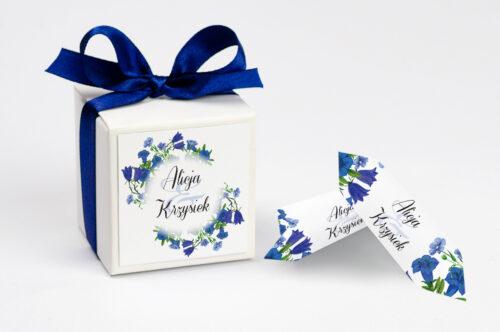 Pudełeczko z personalizacją do zaproszenia Kwiaty Vintage – wzór 1