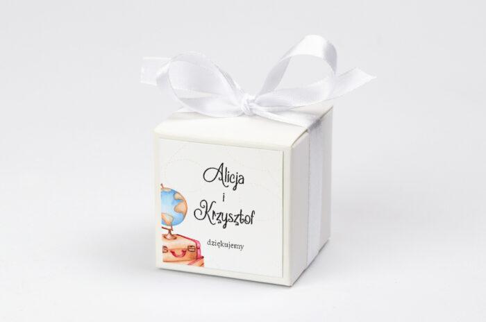 personalizowane pudełeczko na krówki podróż dookoła świata