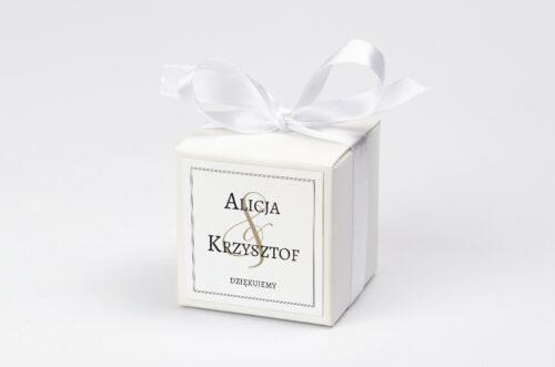 Ozdobne pudełeczko z personalizacją Klasyczne FotoZaproszenie