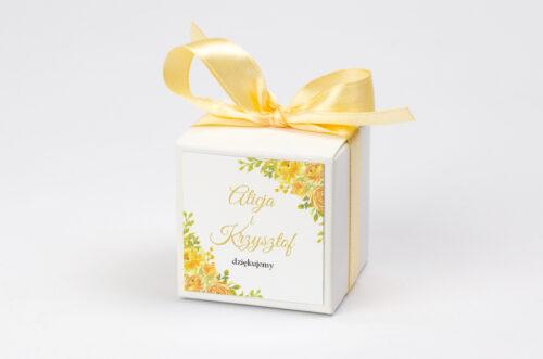 Pudełeczko z personalizacją Zdjęcie&Kalendarz w folderze – Żółte róże