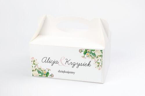 Ozdobne pudełko na ciasto - Kwiaty Vintage – wzór 15