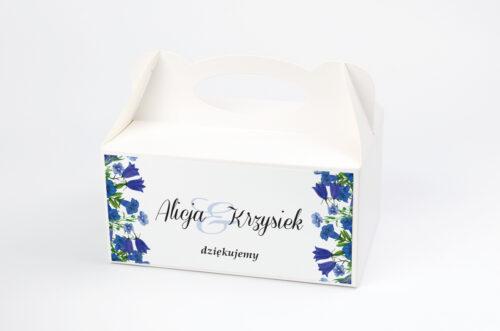Ozdobne pudełko na ciasto - Kwiaty Vintage – wzór 1