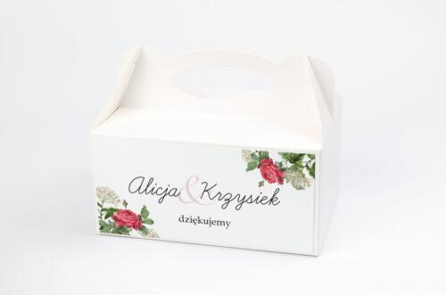 Ozdobne pudełko na ciasto - Kwiaty Vintage – wzór 16