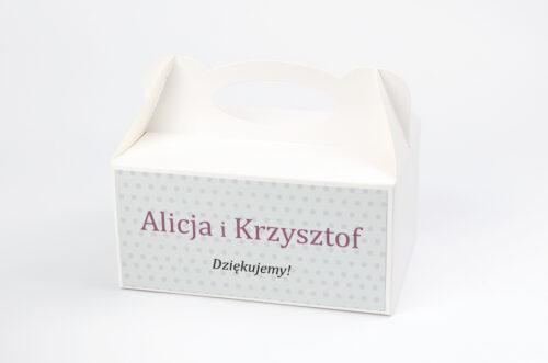 Ozdobne pudełko na ciasto FotoZaproszenie wzór 1a
