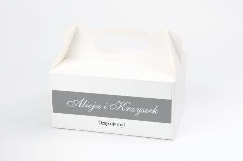 Ozdobne pudełko na ciasto FotoZaproszenie wzór 3a