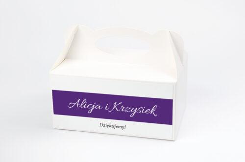 Ozdobne pudełko na ciasto FotoZaproszenie wzór 5c