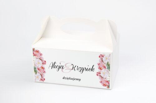 Ozdobne pudełko na ciasto - Kwiaty Vintage – wzór 5