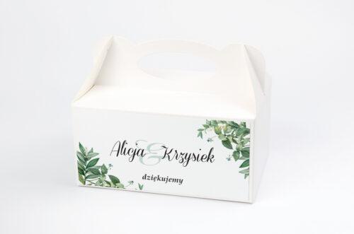 Ozdobne pudełko na ciasto - Kwiaty Vintage – wzór 8
