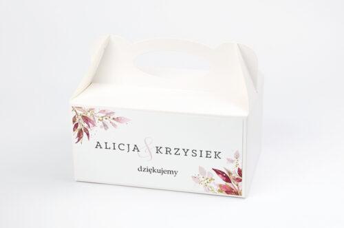 Ozdobne pudełko na ciasto - Akwarelowe Bukiety – wzór 2