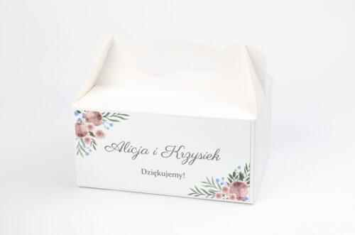 Ozdobne pudełko na ciasto jednokartkowe - Polne kwiaty