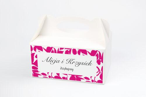 Ozdobne pudełko na ciasto Jesienne liście w kalendarzu wzór 3