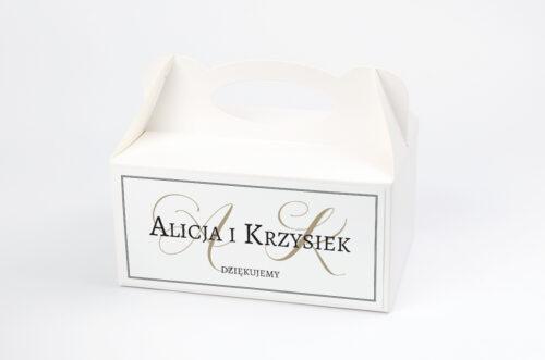 Ozdobne pudełko na ciasto Klasyczne FotoZaproszenie