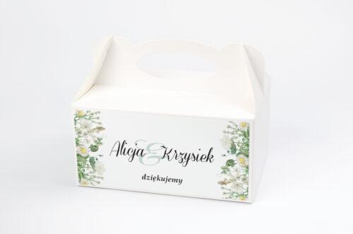 Ozdobne pudełko na ciasto - Kwiaty Vintage – wzór 7