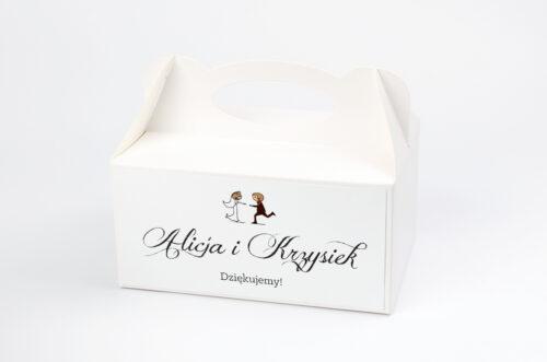 Ozdobne pudełko na ciasto - Lolki biegnące