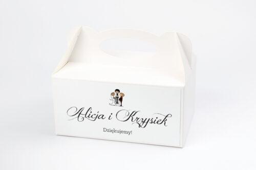 Ozdobne pudełko na ciasto - Lolki i ksiądz 2