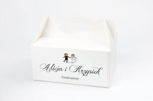 Ozdobne pudełko na ciasto - Lolki tańczące