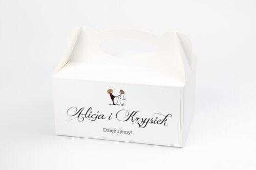Ozdobne pudełko na ciasto - Lolki trzymające się za ręce