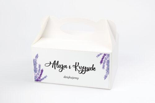 Ozdobne pudełko na ciasto Jednokartkowe Recyklingowe - Lawenda