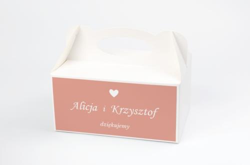 Ozdobne pudełko na ciasto do zaproszeń Kwadratowe – Różany Wianuszek