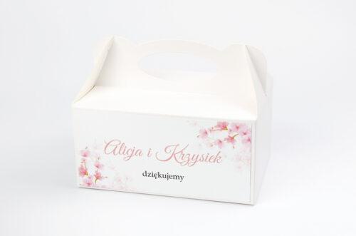 Ozdobne pudełko na ciasto do zaproszeń Zdjęcie&Kalendarz w folderze – Kwiaty jabłoni
