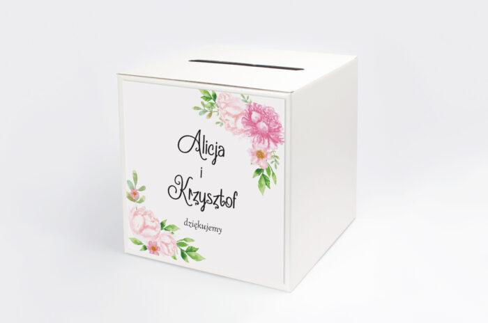 personalizowane-pudelko-na-koperty-do-zaproszenia-ze-zdjeciem-i-sznurkiem-pastelowe-kwiaty-w-rozu-papier-satynowany-pudelko-