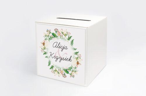 Pudełko na koperty do zaproszenia Kwiaty Vintage – wzór 15