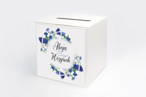 Pudełko na koperty do zaproszenia Kwiaty Vintage – wzór 1