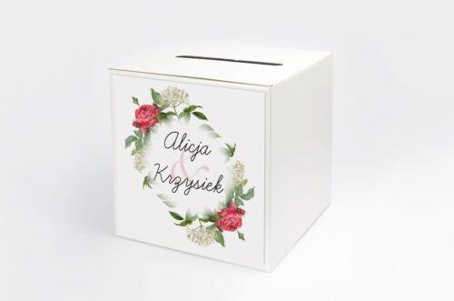 Pudełko na koperty do zaproszenia Kwiaty Vintage – wzór 16