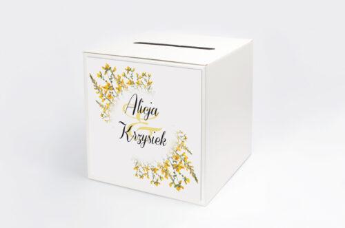 Pudełko na koperty do zaproszenia Kwiaty Vintage – wzór 3