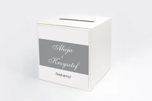 Pudełko na koperty do zaproszenia FotoZaproszenie wzór 3a