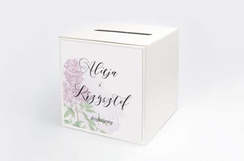 Pudełko na koperty do zaproszenia Namalowane Kwiaty – wzór 19
