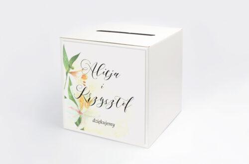 Pudełko na koperty do zaproszenia Namalowane Kwiaty – wzór 24