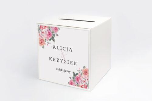 Pudełko na koperty do zaproszenia Akwarelowe Bukiety – wzór 6