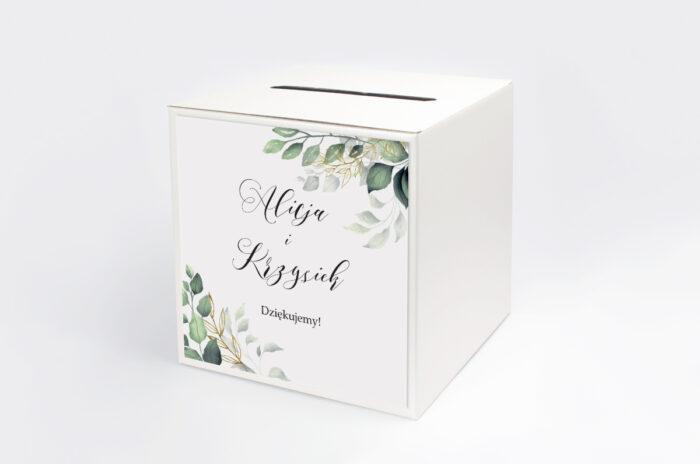 personalizowane-pudelko-na-koperty-do-zaproszen-botaniczne-galazki-ze-zlotem-papier-satynowany-pudelko-