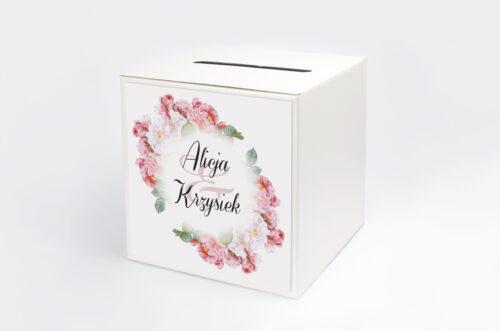 Pudełko na koperty do zaproszenia Kwiaty Vintage – wzór 5