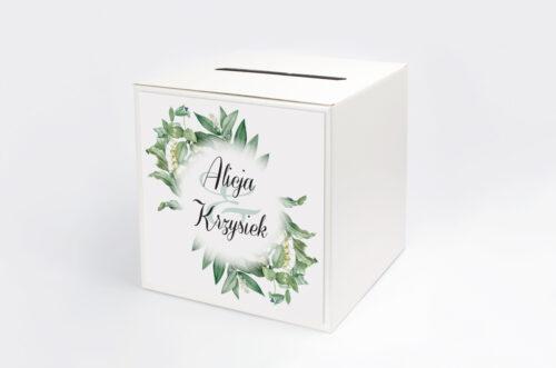 Pudełko na koperty do zaproszenia Kwiaty Vintage – wzór 8