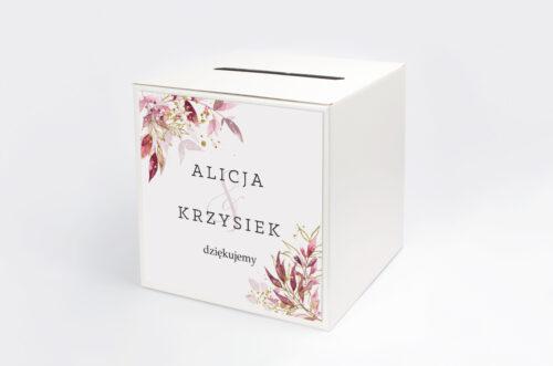 Pudełko na koperty do zaproszenia Akwarelowe Bukiety – wzór 2