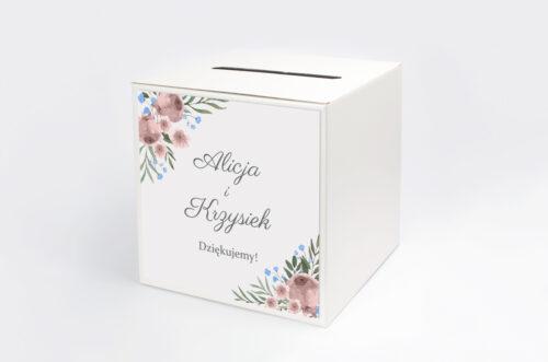 Pudełko na koperty do zaproszenia jednokartkowe - Polne kwiaty