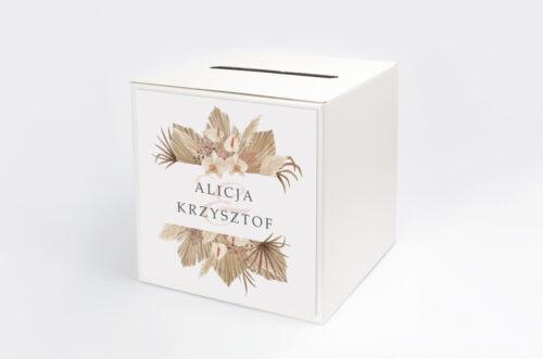 Personalizowane pudełko na koperty - Jednokartkowe z Kwiatami – wzór 14
