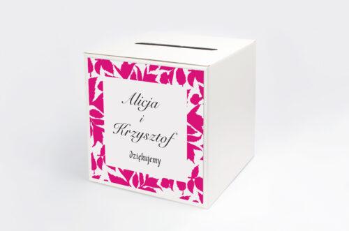 Pudełko na koperty do zaproszenia Jesienne liście w kalendarzu wzór 3